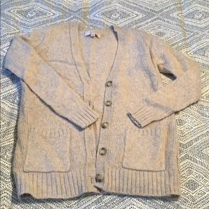 LOFT cream/ivory wool blend cardigan